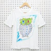 [Men's] yes!yes!非非 ペイント Tシャツ 『ふくろう』
