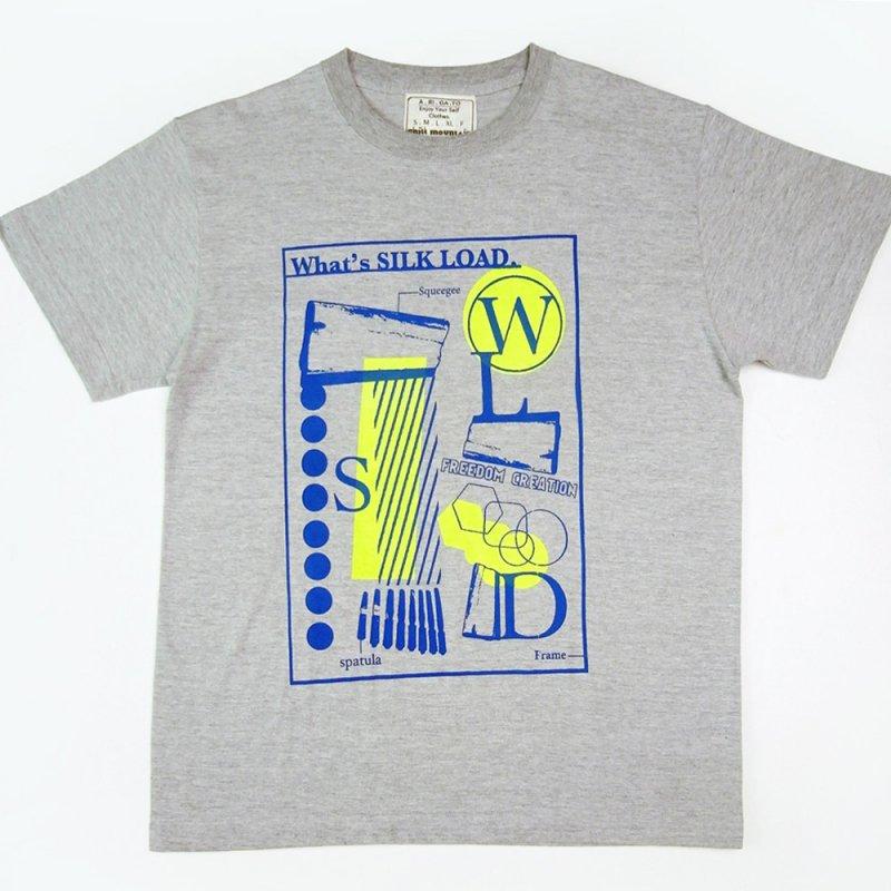 ChillMountain メンズTシャツ 『What's SilkRoad』 グレー サイズ:M