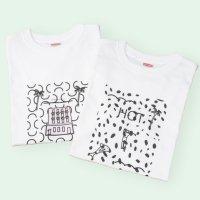[Men's] makiko yamamoto Tシャツ 『ダルメシアン』 サイズ:S