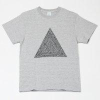 Apsu メンズTシャツ 『ピラミッド』 グレー サイズ:M