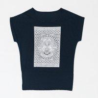 Apsu レディースTシャツ 『ハウリングゴースト』 ブラック サイズ:フリー
