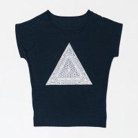 Apsu レディースTシャツ 『ピラミッド』 ネイビー サイズ:フリー