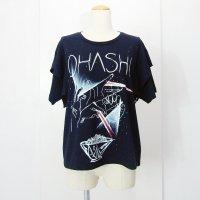 yes!yes!非非 肩フリルリメイクTシャツ OHASHI ブラック