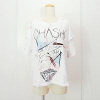 yes!yes!非非 肩フリルリメイクTシャツ OHASHI ホワイト