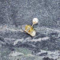 TANE 天然石の片耳ピアス PAKISTAN CRYSTAL A