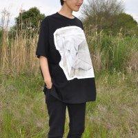 FREE LALA ユニセックス ビッグシルエットTシャツ  iwa  オーガニックコットン ブラック