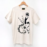 <img class='new_mark_img1' src='https://img.shop-pro.jp/img/new/icons7.gif' style='border:none;display:inline;margin:0px;padding:0px;width:auto;' />[Men's] HE?XION! Tシャツ アイボリー サイズ:M