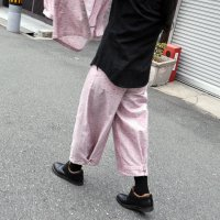 kitai Adjustment Belt Pants -flower pink-