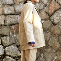 kitai Rounded long Jacket Beige