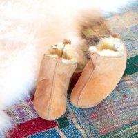 ムートンルームブーツ ポーランド産天然羊毛 サイズ:23.5cm
