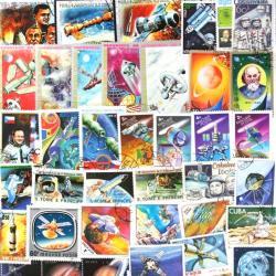宇宙の使用済み切手10枚