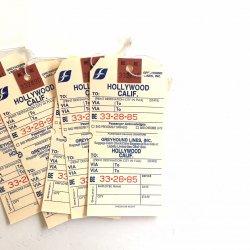 1980's/USA/ラゲッジバッグタグ【5枚】