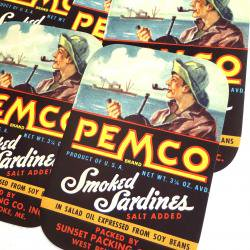 1940's/USA/PEMCO缶ラベル