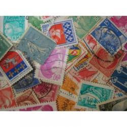 フランスの使用済み切手20枚