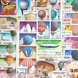 世界の気球(Balloon)/使用済み切手10枚