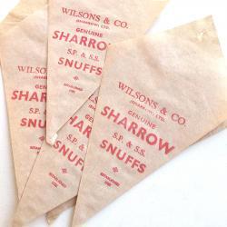 イギリスアンティークデッドストックペーパーバッグ【SHARROW】