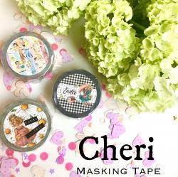 【2017紙博販売分】Cheriオリジナルマスキングテープ