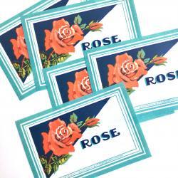 USA/1950'sデッドストック/Roseウォータードリンクラベル【5枚】