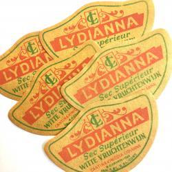 USA/1950'sデッドストック/LYDIANNAワインラベル【5枚】