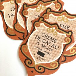 デッドストックラベル/フランスリキュールラベル【CREME】