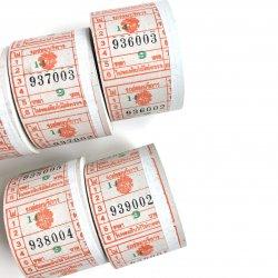 バンコク/バスチケット/1ロール/Orange
