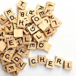 木製アルファベットタイル【100ピース】