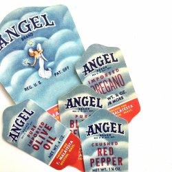 USA/1950'sデッドストックエンジェルブランド調味料ラベル【5種類】