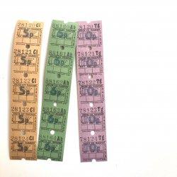 UKヴィンテージバスチケット/3シートセット