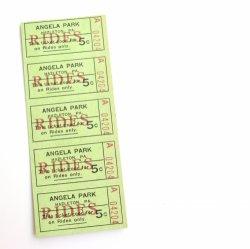 USAデッドストック/ANGELA PARKチケット/RIDES
