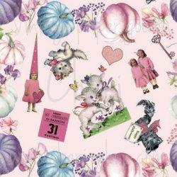 Cheriオリジナルラッピングペーパー【PinkHalloween】