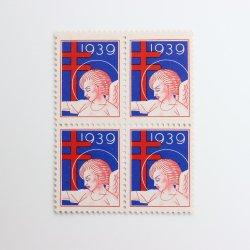 USAヴィンテージXmasシール【1939】