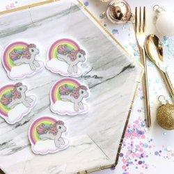 プラスチックフラットチャーム【Rainbow&Unicorn】