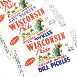 USA/デッドストック/WISCONSIN PRIDE/ピクルス瓶詰ラベル