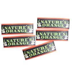 USA/デッドストック/NATURE'S ORANGE/ソーダボトルネックラベル