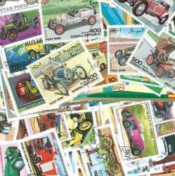 世界の車/使用済み切手10枚