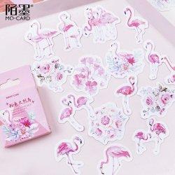 MO-CARD/フレークシール/粉色火烈鳥