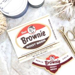 USA/Brownie/ヴィンテージビアラベル【2枚】
