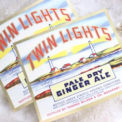 USA/TWIN LIGHTS/ジンジャーエールラベル【2枚】