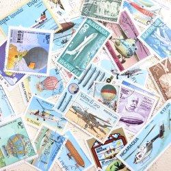 飛行船&飛行機の使用済み切手10枚