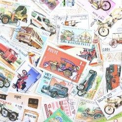 車&バイクの使用済み切手10枚