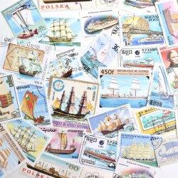 世界の船の使用済み切手10枚