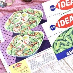 USA/デッドストック/グリーンビーンズ缶詰ラベルセット