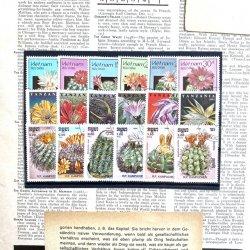 サボテンの切手/18枚セット