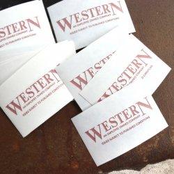 イギリスデッドストックバスチケット【WESTERN】