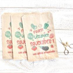フランス/マルシェ袋【FRUITS et LEGUMES】