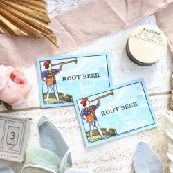 イギリスデッドストック/ROOT BEER/ソーダラベル
