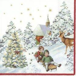 ドイツ/IHR Ideal Home Range/ペーパーナプキン/ANNUAL CHRISTMAS SNOW