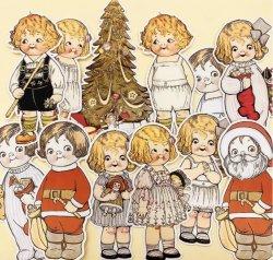海外ハンドメイドデコラティブダイカットステッカーセット/Christmas