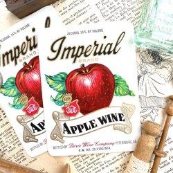 USAデッドストック1940's/AppleWine/ワインラベル【2枚】