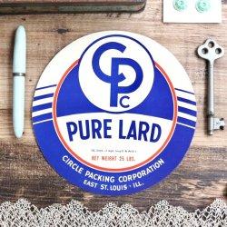 USAデッドストックラベル/PURE LARD【2枚】